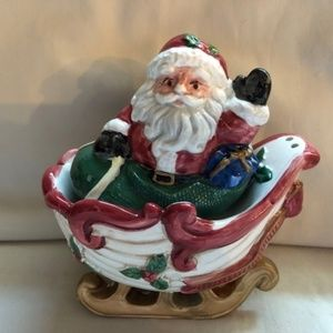 Vintage Santa Sleigh Salt and Pepper Shakers